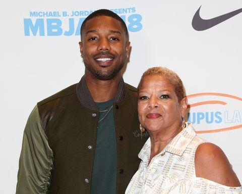 622293db631 Michael B. Jordan Brings Mom Donna Jordan As His Date to 2019 Oscars