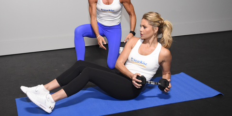 Physical fitness, Arm, Sportswear, Fitness professional, Abdomen, Exercise, Leg, Pilates, Personal trainer, yoga pant,