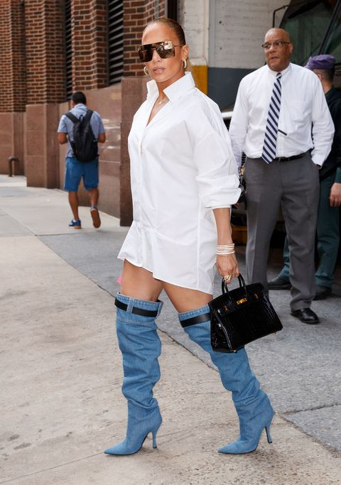 Jennifer Lopez Catfishes Us All With Versace Boots That Look Like Jeans
