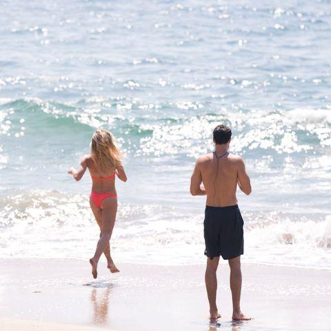 Body of water, Fun, People on beach, Water, Standing, Summer, People in nature, Wave, Beach, Ocean,