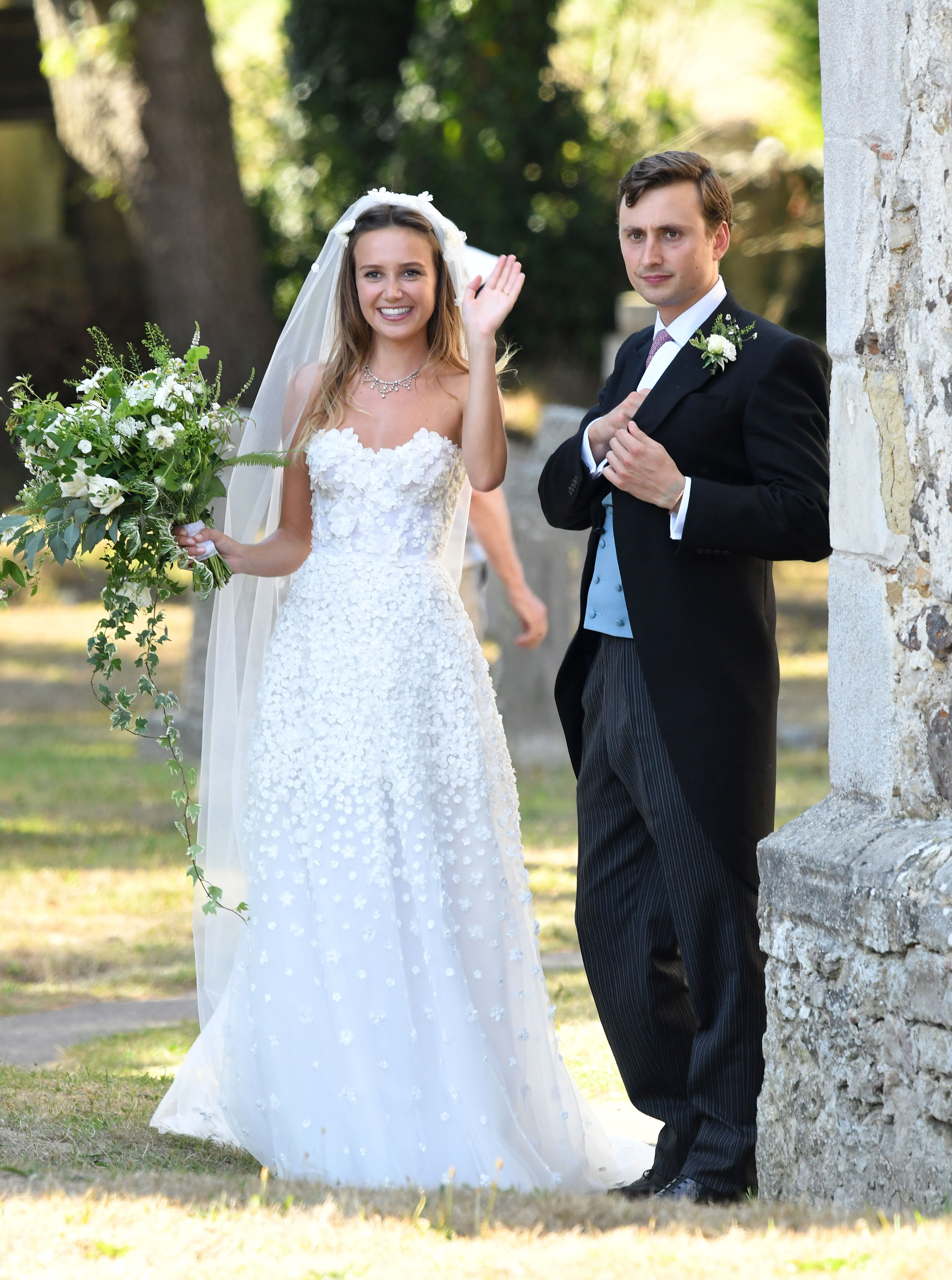 d37dd4a165f2 In pictures  the wedding of Daisy Jenks and Charlie van Straubenzee