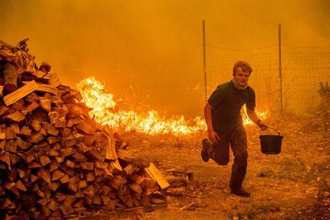 mendocino cal fire running teen