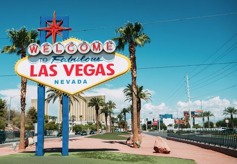 USA, Nevada, Las Vegas, Welcome To Fabulous Las Vegas Nevada Sign