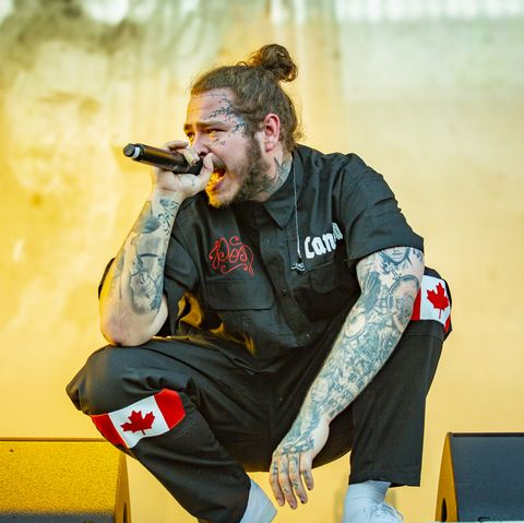 montreal, qc   august 05  post malone performs at the osheaga music and art festival at parc jean drapeau on august 5, 2018 in montreal, canada  photo by mark hortongetty images