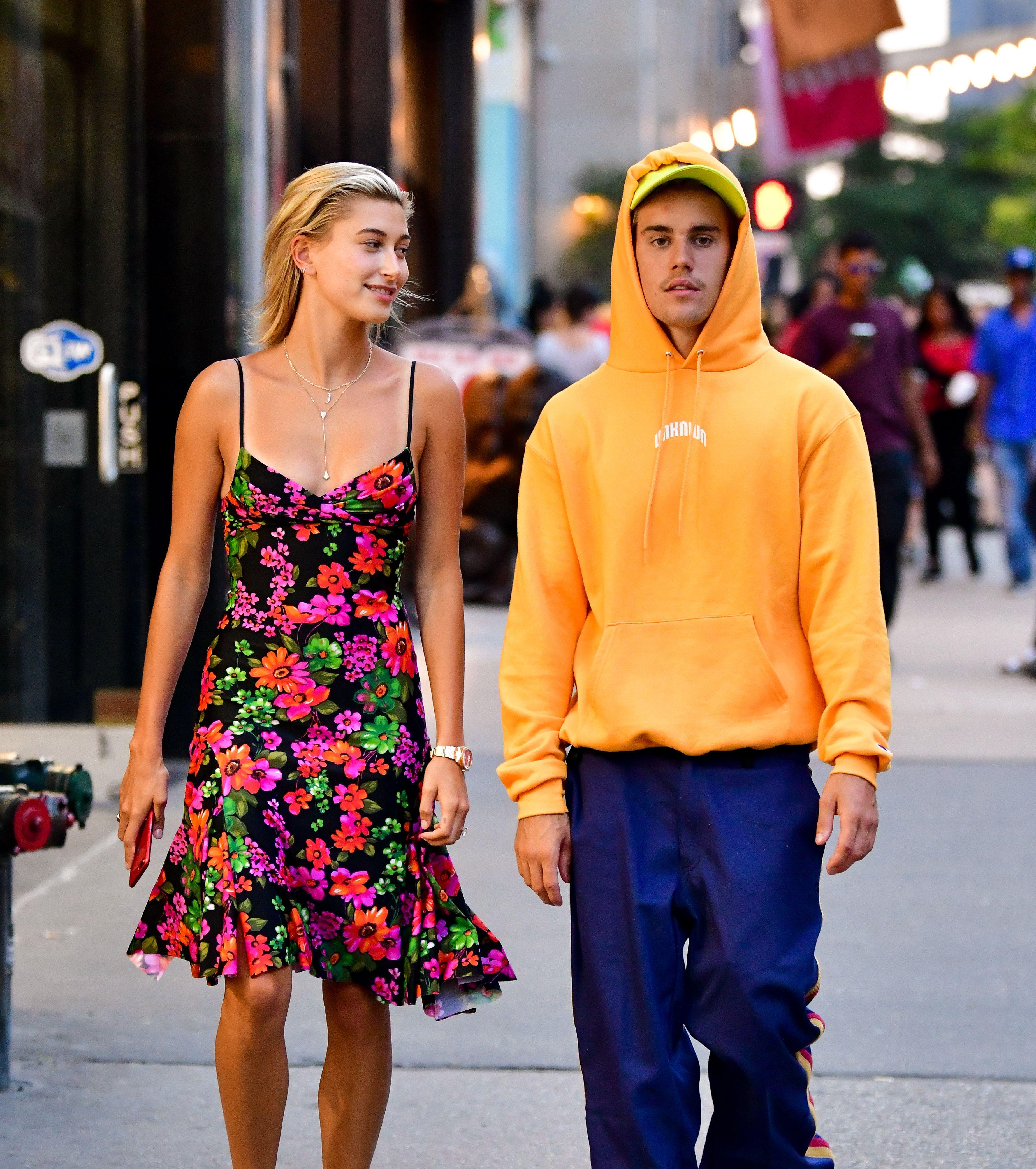 Justin Bieber Almost Destroys Hailey Bieber's Wedding Dress In Thanksgiving Photo