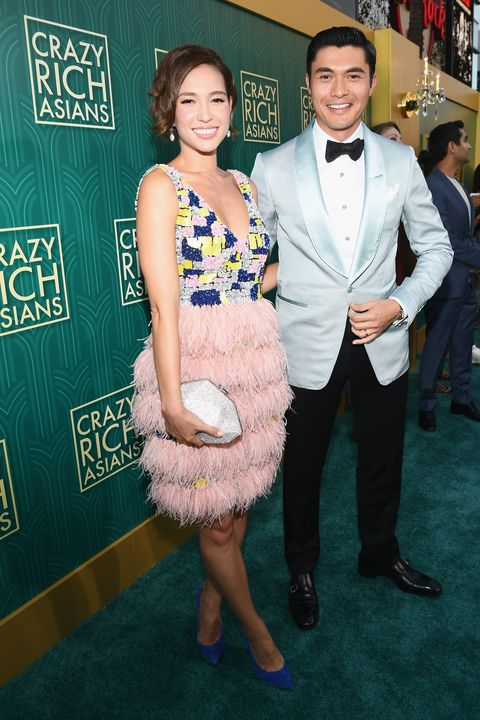 hollywood, ca   august 07  henry golding and wife liv lo arrive at warner bros pictures crazy rich asians premiere at tcl chinese theatre imax on august 7, 2018 in hollywood, california  photo by emma mcintyregetty images