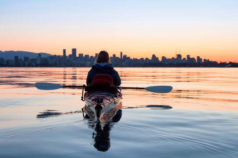 Water, Reflection, Sky, Sunset, Evening, Morning, River, Vehicle, Boating, Horizon,