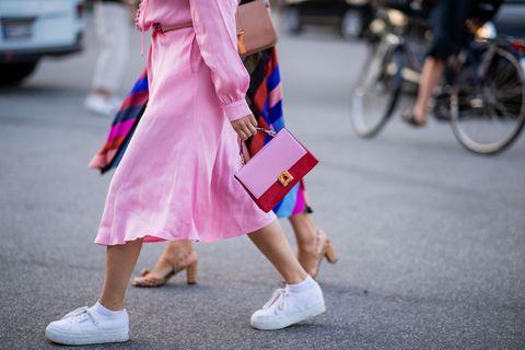 Pink, Street fashion, White, Footwear, Fashion, Clothing, Shoe, Snapshot, Leg, Human leg,