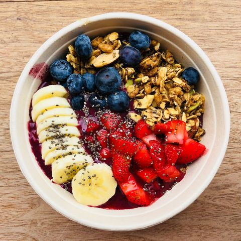 Dish, Food, Cuisine, Meal, Breakfast cereal, Breakfast, Fruit salad, Ingredient, Superfood, Granola,