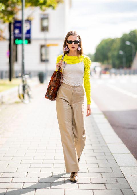 come abbinare i pantaloni beige, come abbinare i pantaloni palazzo, moda pantaloni autunno 2018