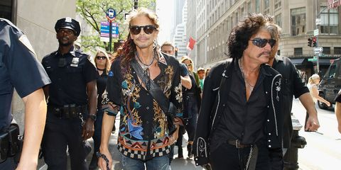 Aerosmith Departs For Tonight Show Appearance