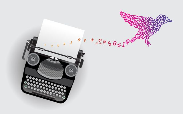 typewriter and the letters that fly like birds