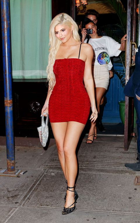 5d31881f35342 Kylie Jenner Wears Red Mini-Dress in New York City - Kylie Jenner ...