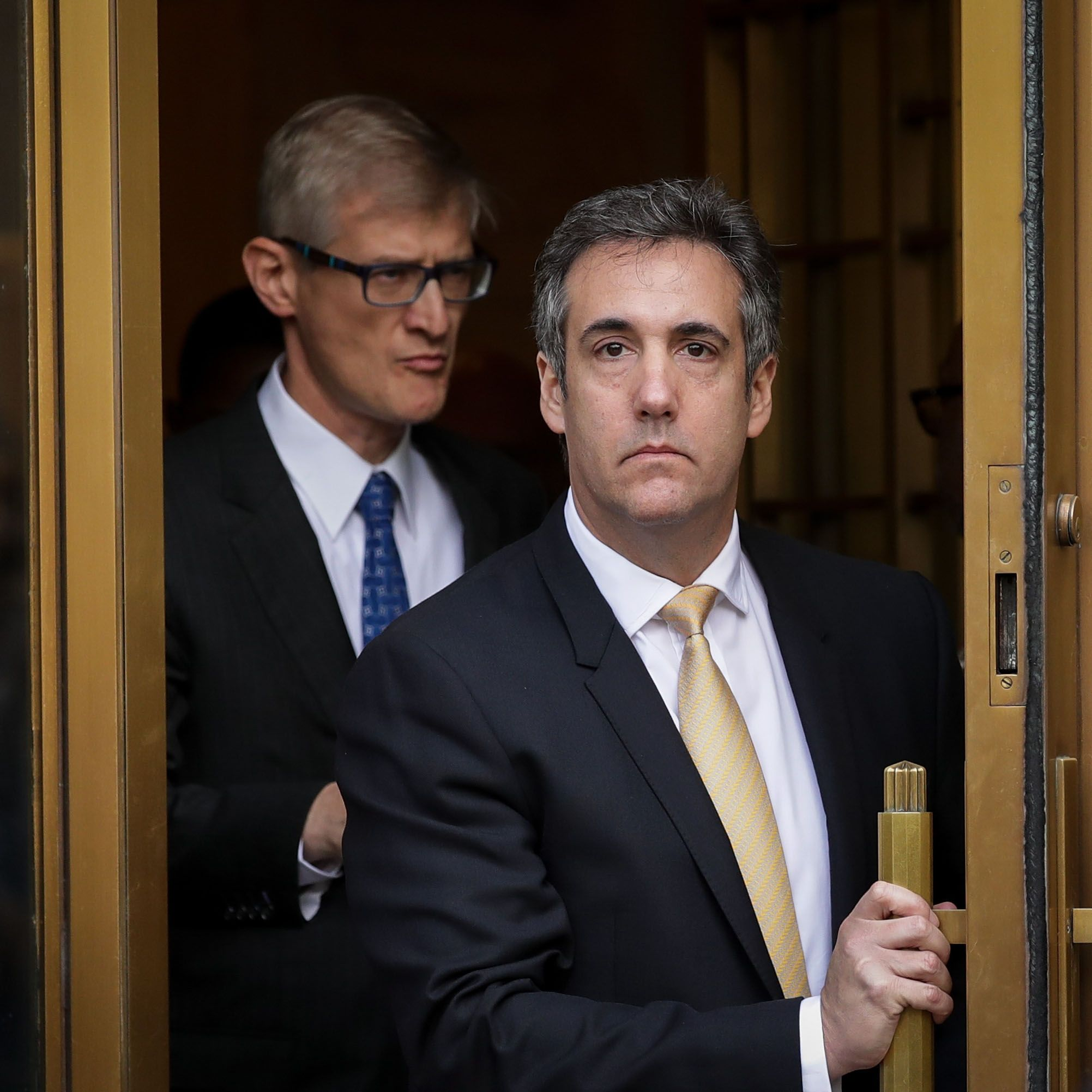 Michael Cohen, President Donald Trump's former personal attorney and fixer, exits federal court, August 21, 2018 in New York City.