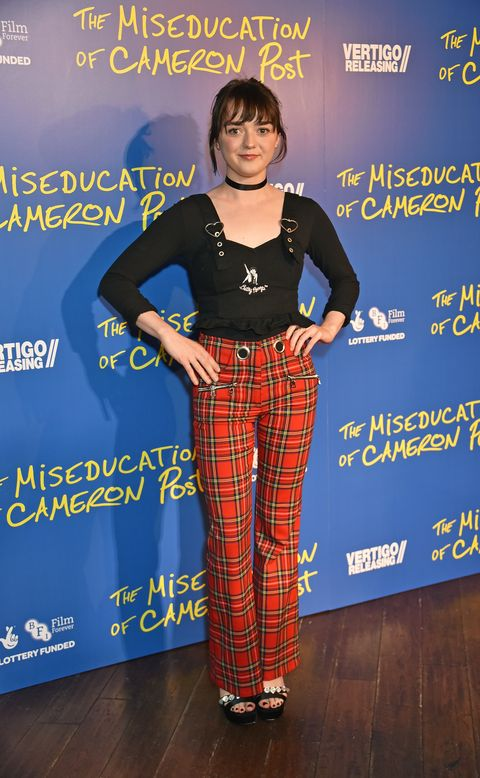 Maisie Williams wears red plaid to 'The Miseducation of Cameron Post', September 2018