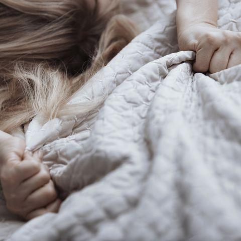 Skin, Beauty, Hand, Sleep, Child, Arm, Comfort, Fur, Eye, Bedding,