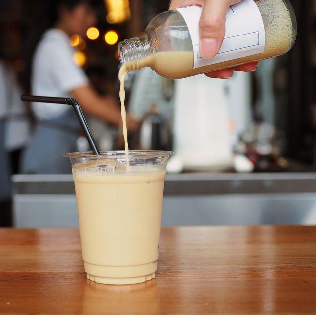 Drink, Alcoholic beverage, Distilled beverage, Cocktail, Food, Milk punch, Liqueur, Batida, Beer cocktail, Horchata,