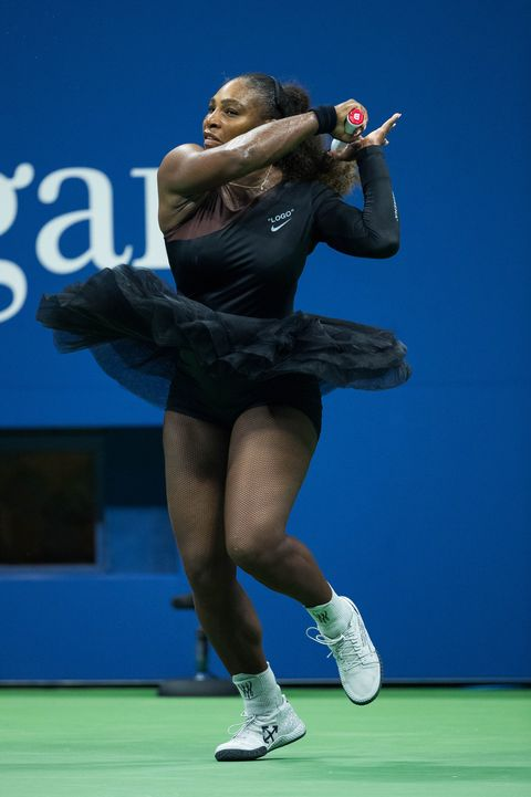 0dbfb446c21 Serena Williams Wears Off-White x Nike Queen Collection Ballet Dress ...