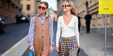 Clothing, Street fashion, Plaid, Fashion, Photograph, Pattern, Eyewear, Fashion model, Snapshot, Tartan,