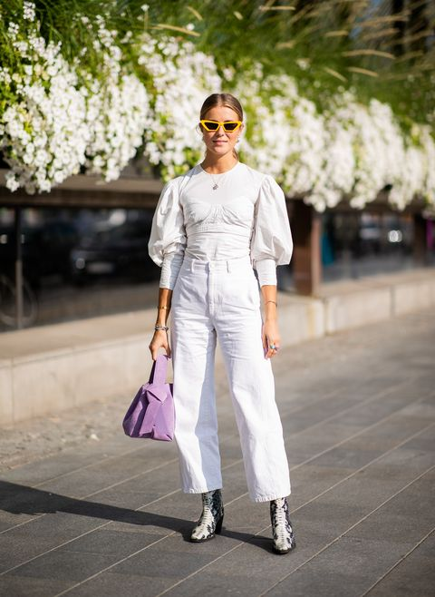 White, Clothing, Street fashion, Photograph, Fashion, Pink, Snapshot, Spring, Fashion model, Shoulder,