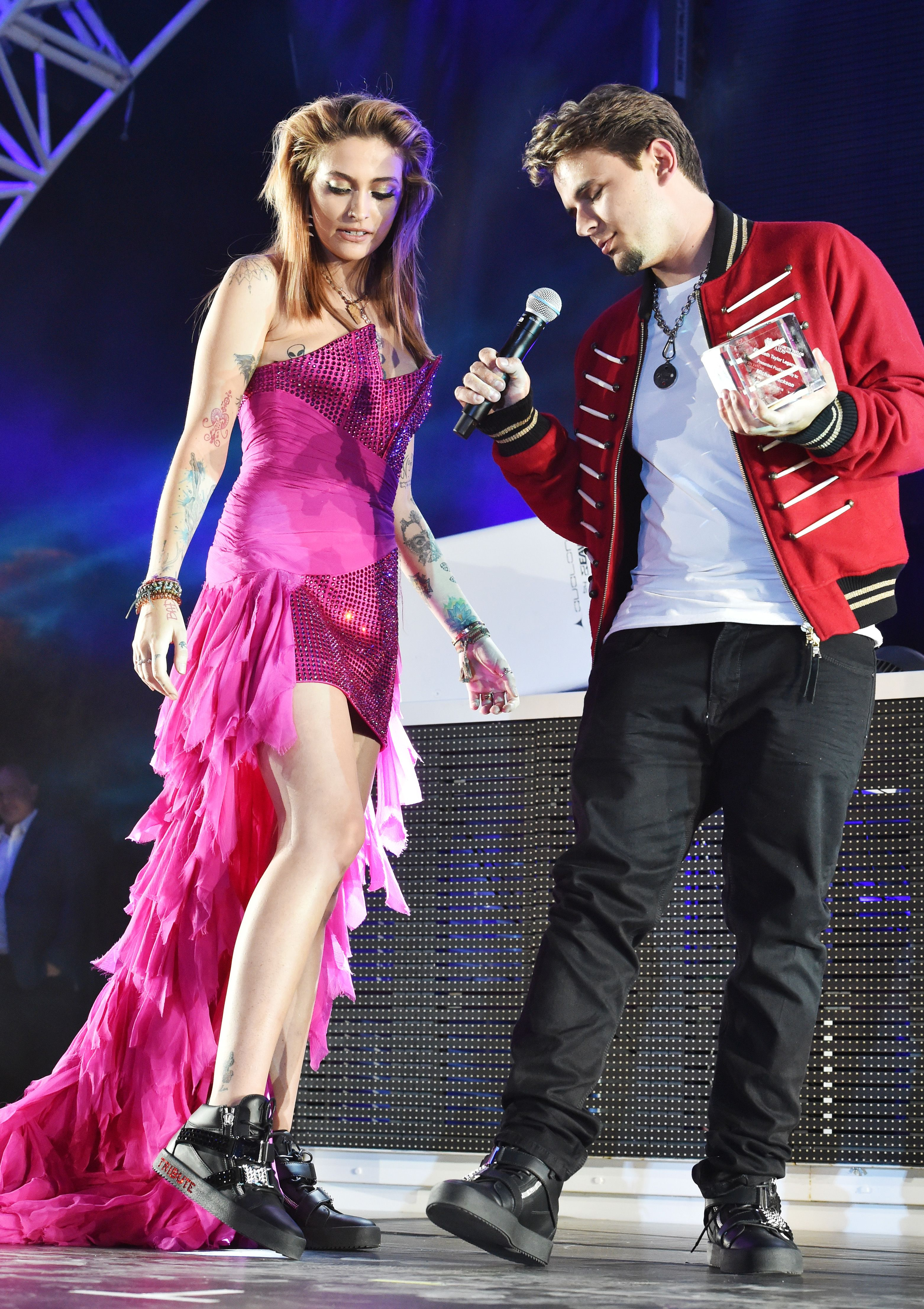 Image result for paris and prince jackson 2018 moonwalk