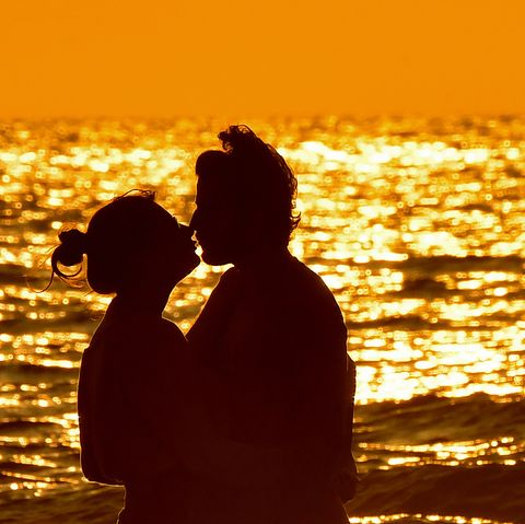 People in nature, Backlighting, Photograph, Silhouette, Romance, Heat, Love, Sky, Yellow, Happy,