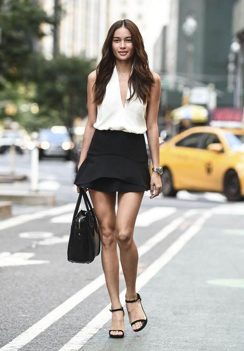 Clothing, White, Street fashion, Photograph, Fashion model, Black, Fashion, Black-and-white, Snapshot, Shoulder,