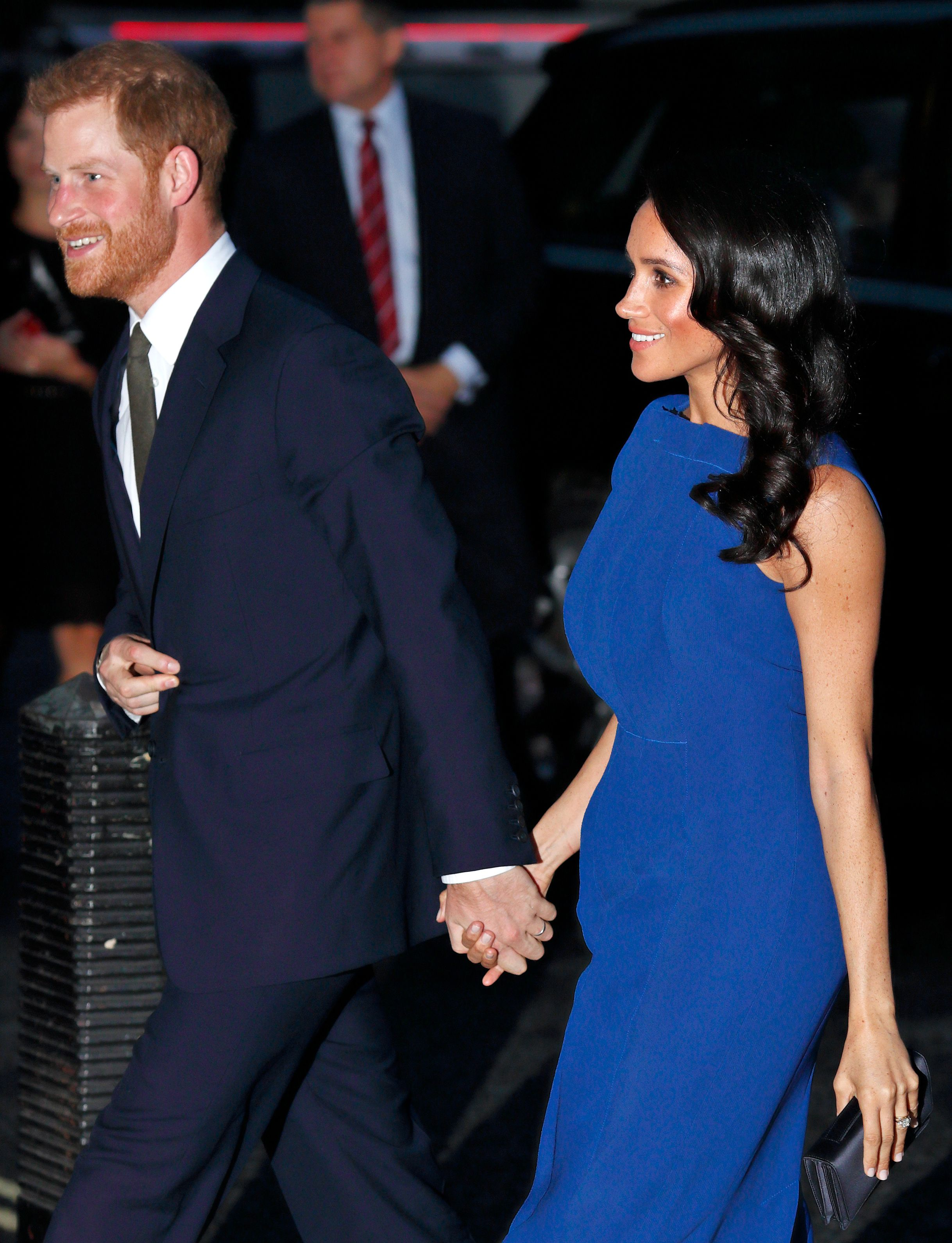 Meghan Markle and Prince Harry attend the '100 Days Of Peace' concert