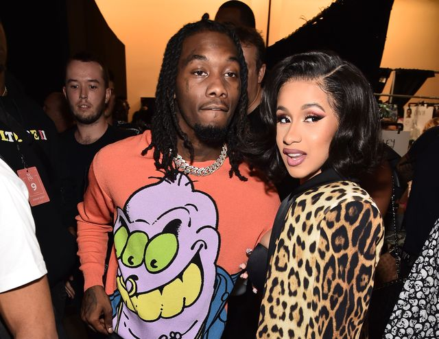 new york, ny   september 06  offset and cardi b pose backstage at the jeremy scott show during new york fashion week the shows at gallery i at spring studios on september 6, 2018 in new york city  photo by theo wargogetty images for nyfw the shows