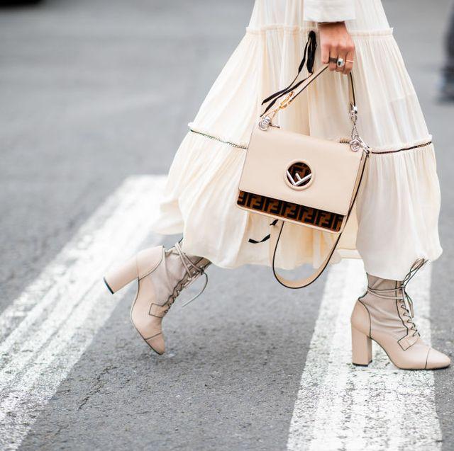White, Street fashion, Pink, Fashion, Outerwear, Footwear, Leg, Shoe, Fashion accessory, Costume,
