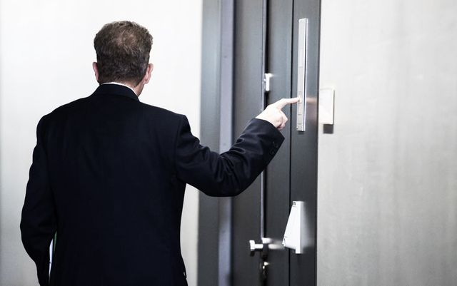 hans georg maassen, president of the domestic intelligence service of the federal republic of germany bundesamt fuer verfassungsschutz, bfv, arrives for a hearing in front of a parliamentary control panel on september 12, 2018 in berlin   secret services typically work away from the limelight, but germany's top domestic spy hans georg maassen has repeatedly crashed into the public eye, with his latest outing pitting him directly against chancellor angela merkel photo by bernd von jutrczenka  dpa  afp  germany out photo by bernd von jutrczenkadpaafp via getty images
