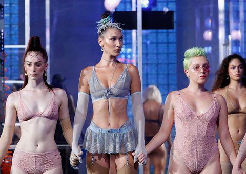 Lingerie, Clothing, Undergarment, Brassiere, Fashion, Underpants, Fashion model, Model, Fashion show, Event,