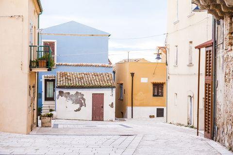 Picturesque street of Termoli, Molise, Italy