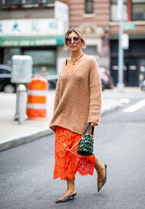 Clothing, Street fashion, Orange, Photograph, Fashion, Snapshot, Pink, Footwear, Eyewear, Shoe,