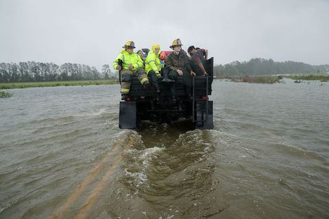 Water, Vehicle, Flood, Watercourse, Rescue, River, Bank, Off-road vehicle, Marines,