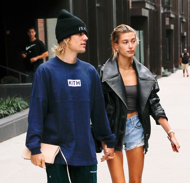 new york, ny   september 14  justin bieber and hailey baldwin are seen on september 14, 2018 in new york city  photo by gothamgc images