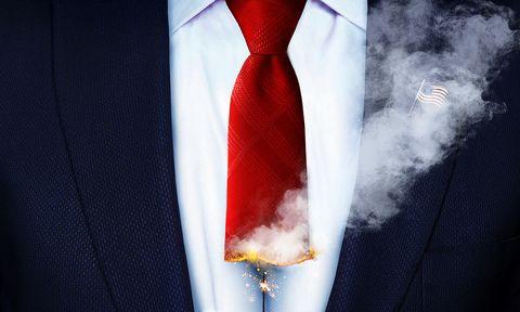 Red, Tie, Fashion accessory, Formal wear,