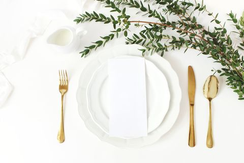 Fork, Plate, Dishware, Cutlery, Tableware, Tablecloth, Plant, Table, Linens,