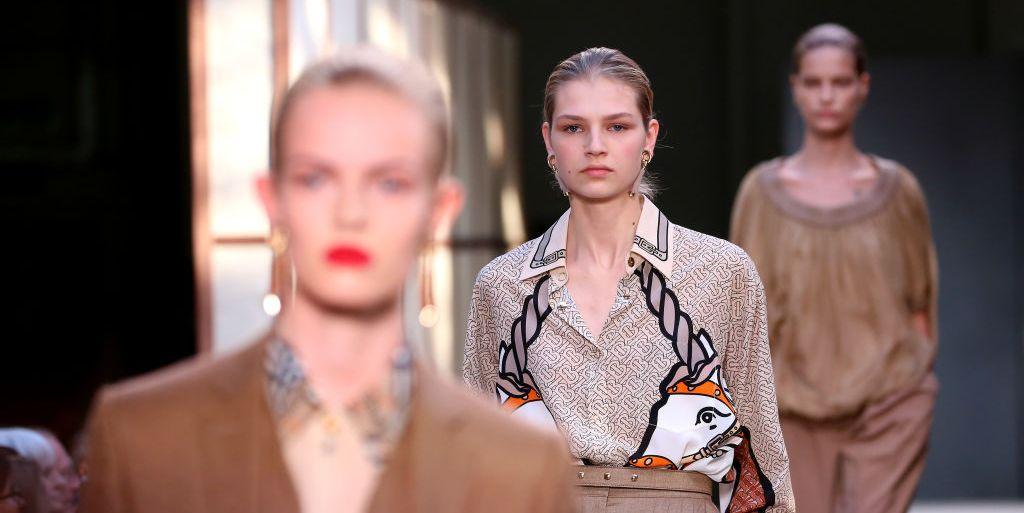 Nederlandse modellen modeshow Burberry lente/zomer 2019