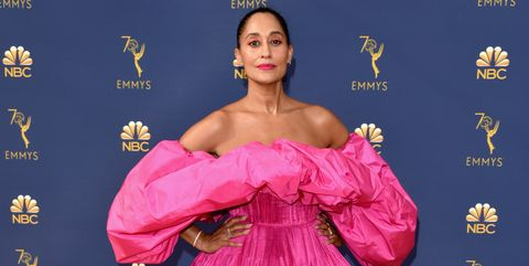 88f61fc856b5 Tracee Ellis Ross Practically Just Invented Wearing Hot Pink for the Red  Carpet