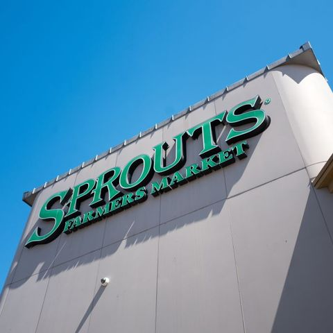 low angle view of sign for sprouts farmers market, a health food grocery chain on a sunny day in dublin, california, september 7, 2018 photo by smith collectiongadogetty images