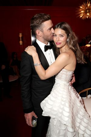 Jessica Biel and Justin Timberlake at Emmy Awards