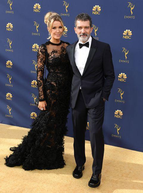 Antonio Banderas y Nicole Kimpel enlos Premios Emmys
