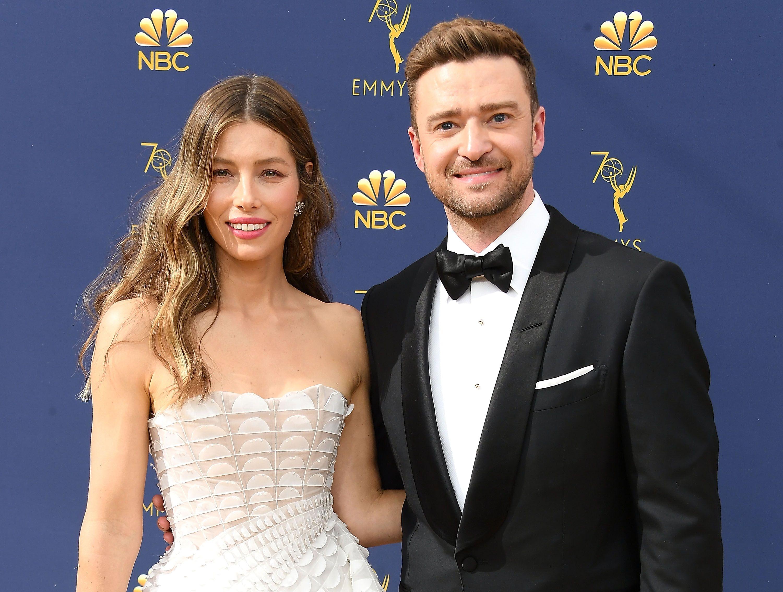 70th Emmy Awards - Justin Timberlake And Jessica Biel