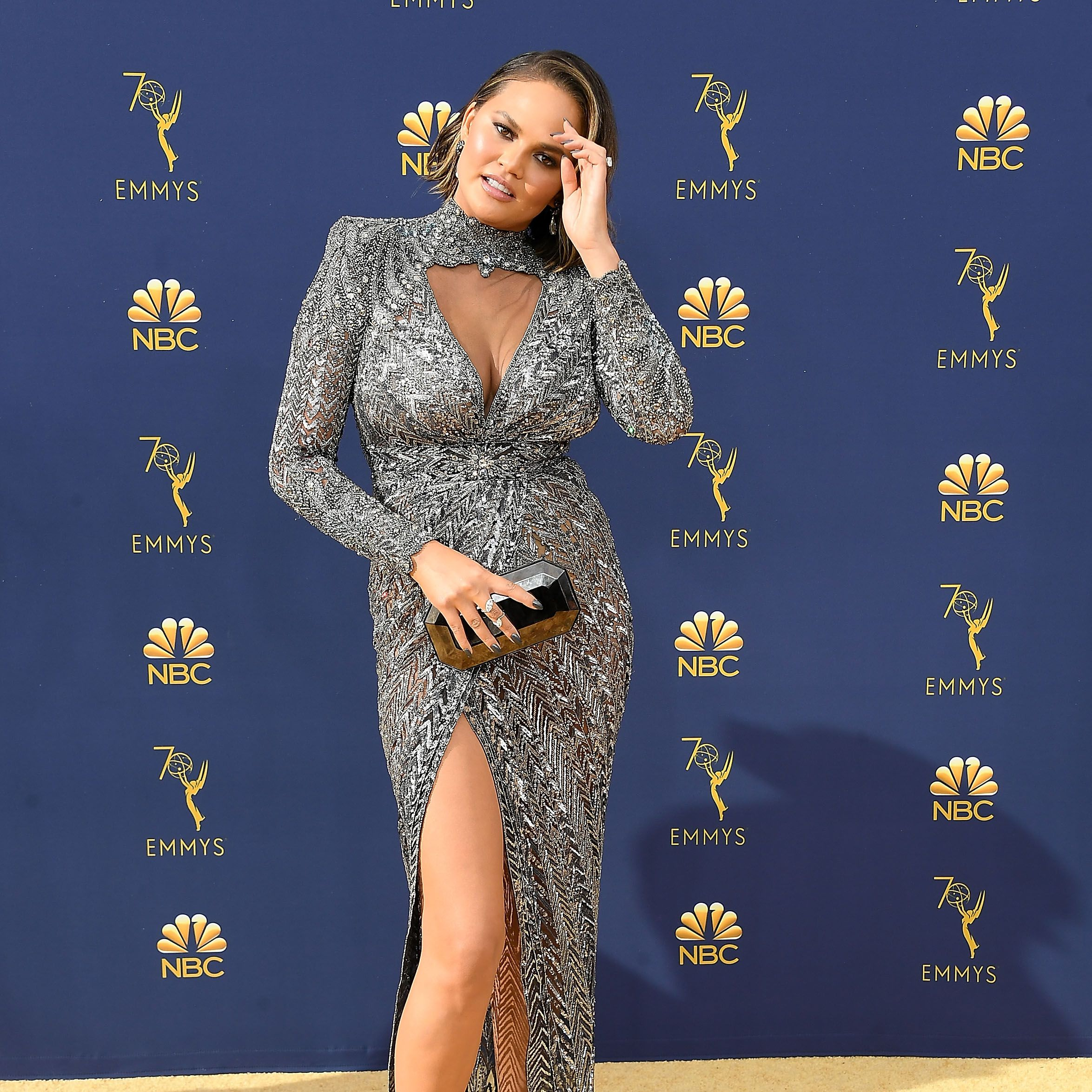 Chrissy Teigen Slams Body-Shamer Who Said She Looked Pregnant at the Emmys