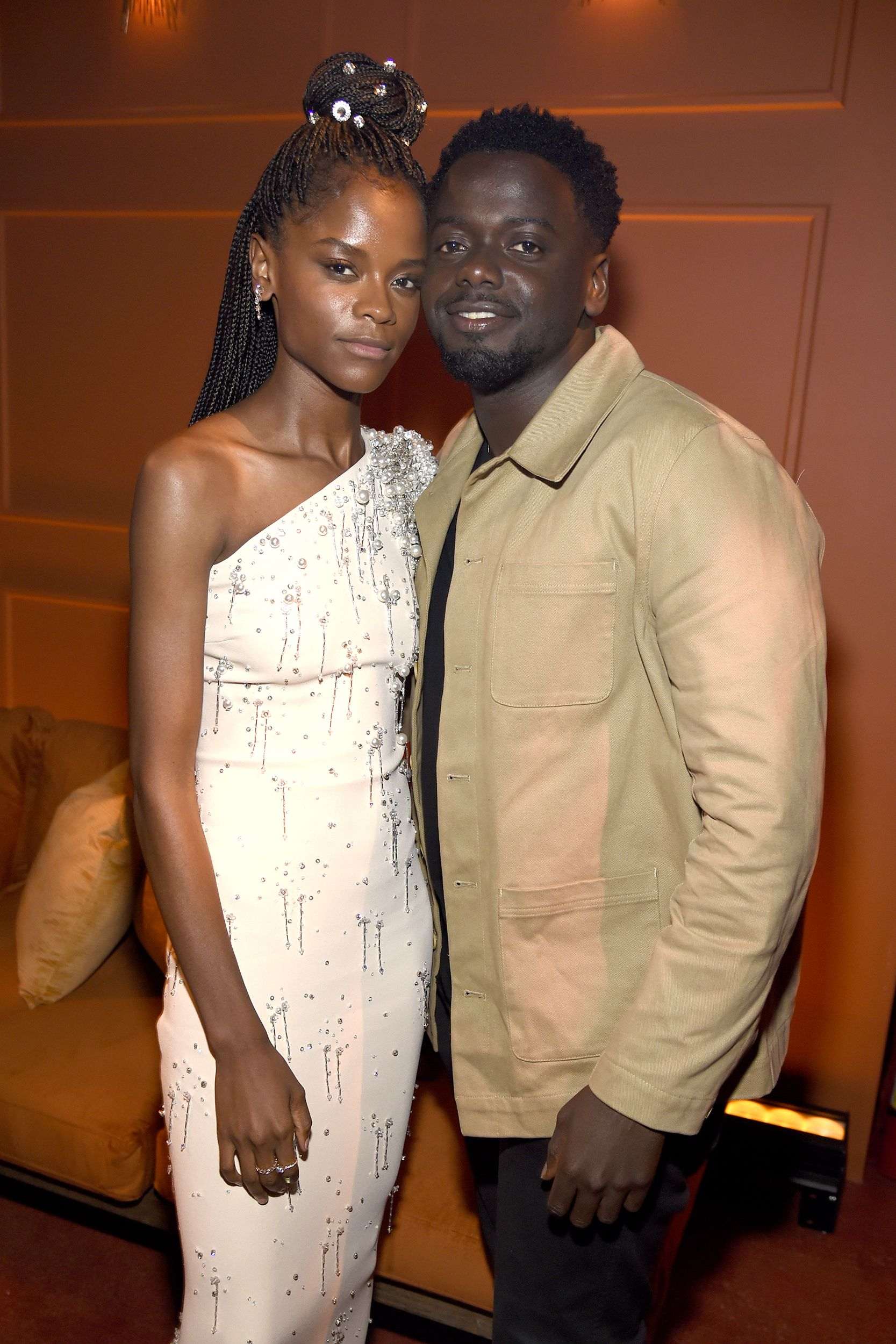 Letitia Wright and Daniel Kaluuya