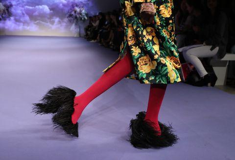 Richard Quinn Catwalk - London Fashion Week September 2018