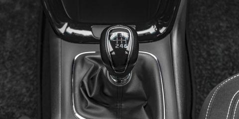 Modern car gearbox lever