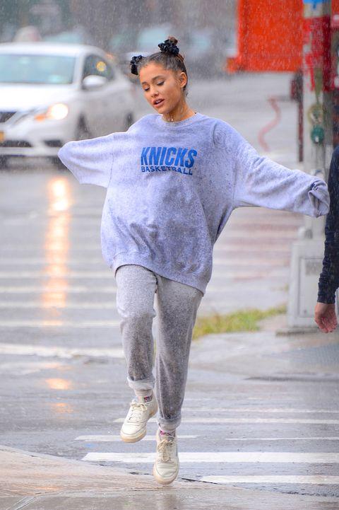 Street fashion, People, Blue, Fashion, Footwear, Standing, Fun, Human, Sportswear, Outerwear,
