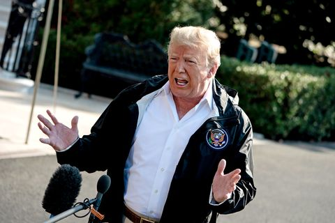 president trump hurricane florence is one of the wettest we ve